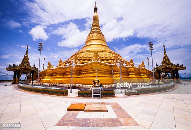 The gigantic Uppatasanti Pagoda basks in the hot midday sun This pagoda has only recently built in Myanmar's controversial new capital city Naypyidaw...