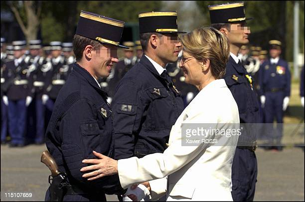 The GIGN celebrates its 30 years in Satory France on June 15 2004 Michele AlliotMarie
