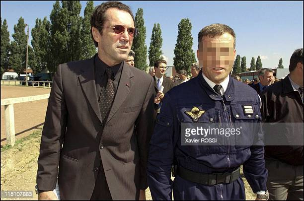 The GIGN celebrates its 30 years in Satory France on June 15 2004 Commander Prouteau GIGN creator and a GIGN responsible
