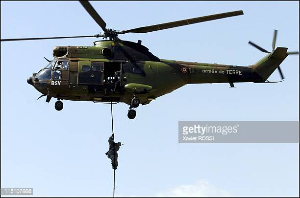 The GIGN celebrates its 30 years in Satory France on June 15 2004 Helicopter Super Puma