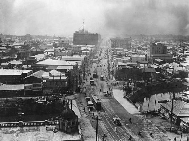 The Ginza in Tokyo, a year after the 1923 Great Kanto...