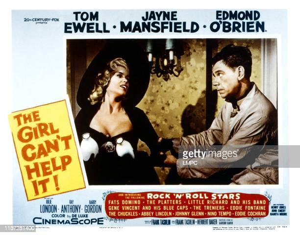 The Girl Can't Help It lobbycard from left Jayne Mansfield Tom Ewell 1956