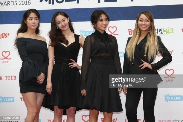 The girl group SISTAR attends the 6th Gaon Chart KPop Awards on February 22 2017 in Seoul South Korea