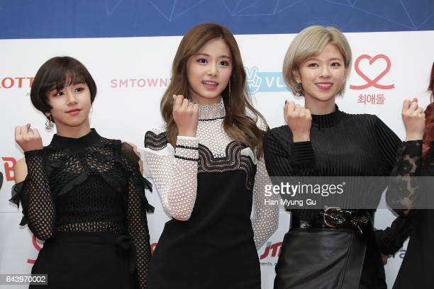 The girl group TWICE attends the 6th Gaon Chart K-Pop Awards on February 22, 2017 in Seoul, South Korea.