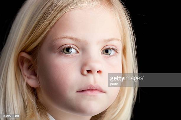 the girl is sad - green eyes stock pictures, royalty-free photos & images