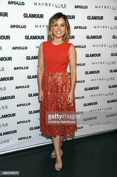 The Girl Project advisory board member Sophia Bush joins Glamour The Power Of An Educated Girl panel at The Apollo Theater on September 29 2015 in...