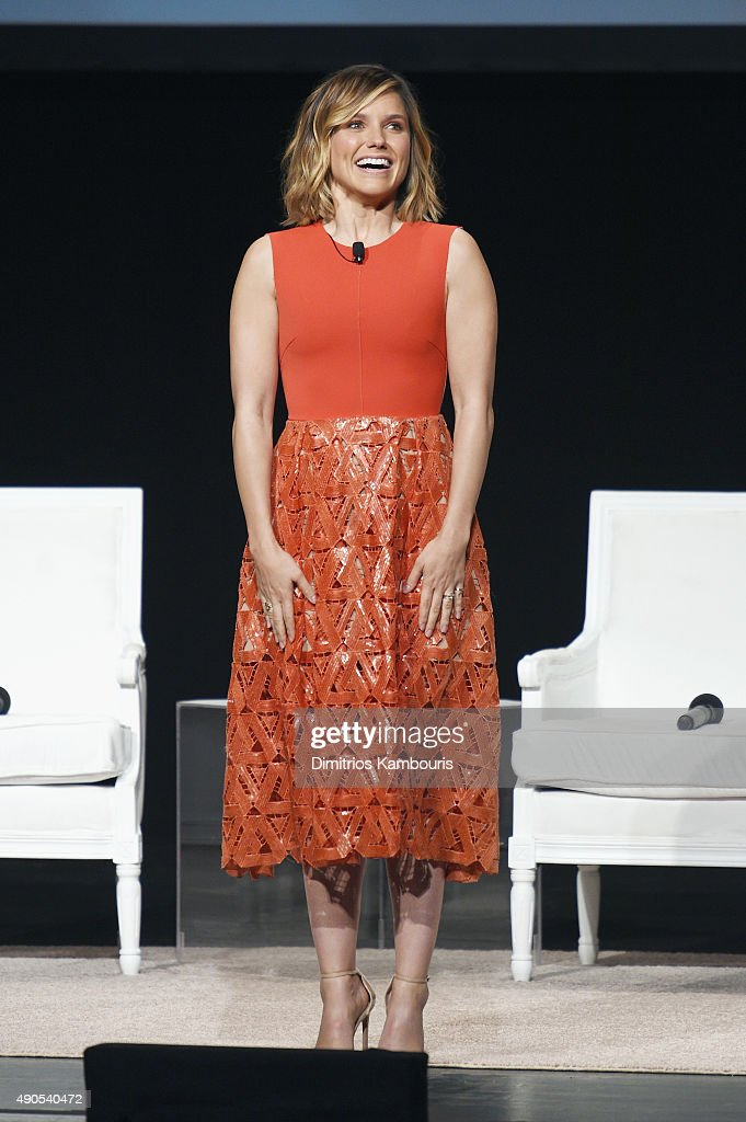 The Girl Project advisory board member Sophia Bush speaks onstage during Glamour 'The Power Of An Educated Girl' panel at The Apollo Theater on September 29, 2015 in New York City.