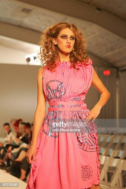 The Girl Who Kissed The Roach Joanie Sales Associate age 24 of Beaver Falls Pennsylvania walks the runway in a challenge featuring the designs of...