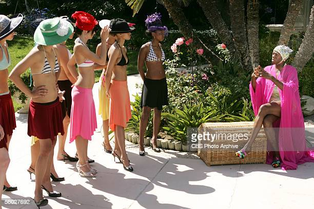 The Girl Who Makes a Disclaimer Runway coach J Alexander drills the girls on their runway walk in AMERICA'S NEXT TOP MODEL on UPN