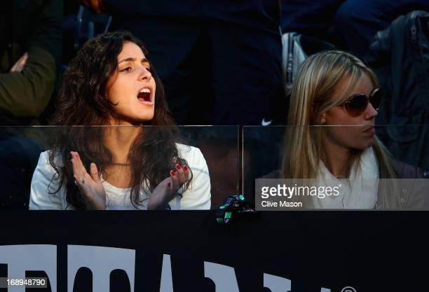 The girlfriend of Rafael Nadal of Spain, Maria Francisca Perello, is seen in the stands on day six of the Internazionali BNL d'Italia 2013 at the...