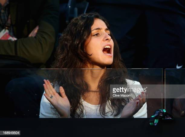 The girlfriend of Rafael Nadal of Spain Maria Francisca Perello is seen in the stands on day six of the Internazionali BNL d'Italia 2013 at the Foro...