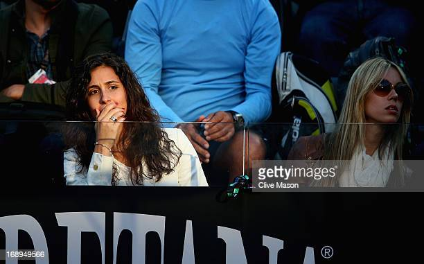 The girlfriend of Rafael Nadal of Spain Maria Francisca Perello is seen in the stands with Isabel Nadal on day six of the Internazionali BNL d'Italia...