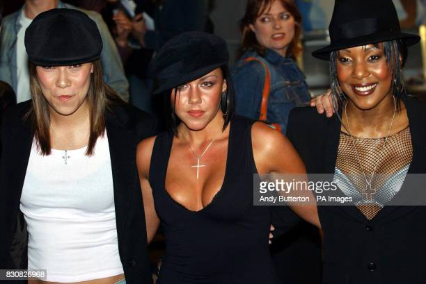 The girls from Liberty X arrive for the premiere of Britney Spears's debut feature film 'Crossroads' at the Odeon in Leicester Square London