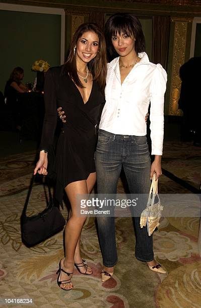 The Girls Model Leilani And Naomi Russell From Coronation Street 'Vanilla Sky' Premiere At The Empire Leicester Square Party At The Dorchester Hotel...