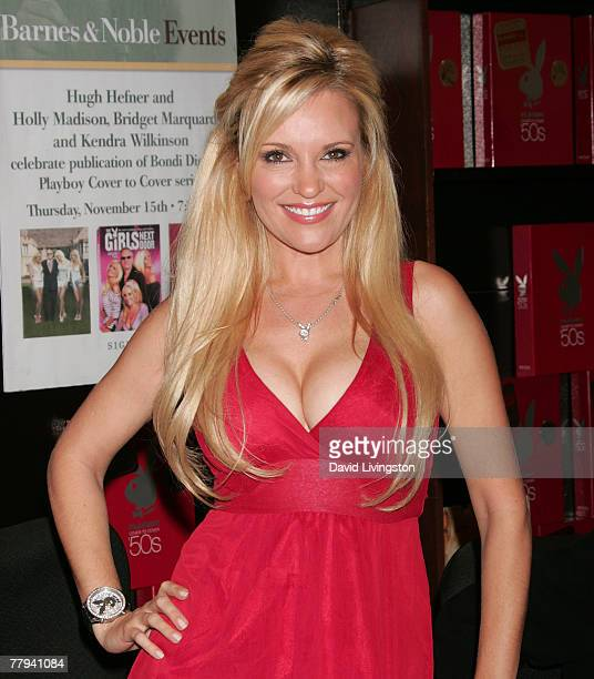 'The Girls Next Door' reality series star Bridget Marquardt attends a signing of 'Playboy Cover to Cover The 50s' at Barnes Noble Booksellers at The...