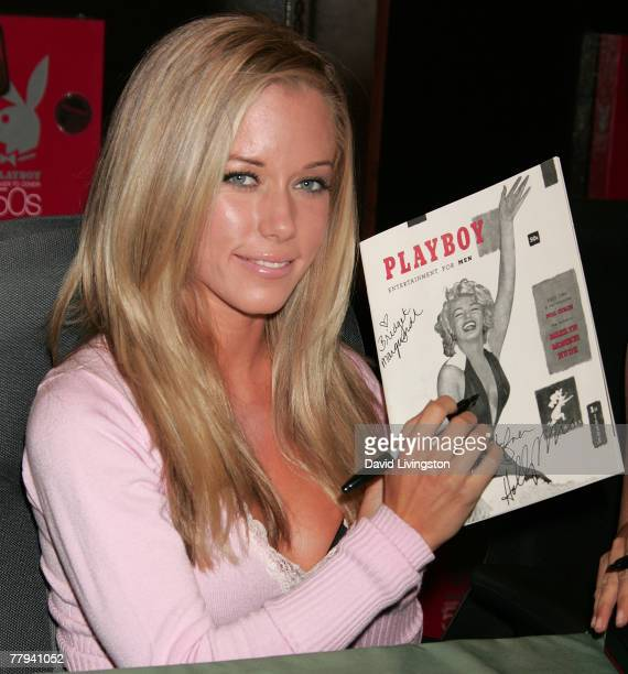 'The Girls Next Door' reality series star Kendra Wilkinson attends a signing of 'Playboy Cover to Cover The 50s' at Barnes Noble Booksellers at The...