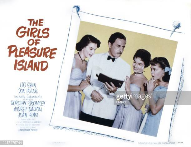 The Girls Of Pleasure Island US lobbycard from left Joan Elan Leo Genn Audrey Dalton Dorothy Bromiley 1953