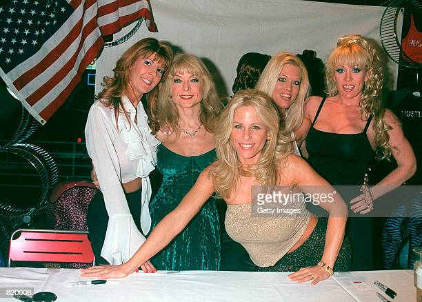 The girls of the Free Speech Coalition Christi Lake Nina Hartley Brooke Hunter Anita Cannibal and Kim Chambers attend the Support of the Freedom of...