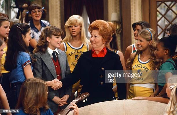 RENT STROKES The Girls School Episode 24 Pictured Felice Schachter as Nancy Dana Plato as Kimberly Drummond Charlotte Rae as Edna Garrett Julie...