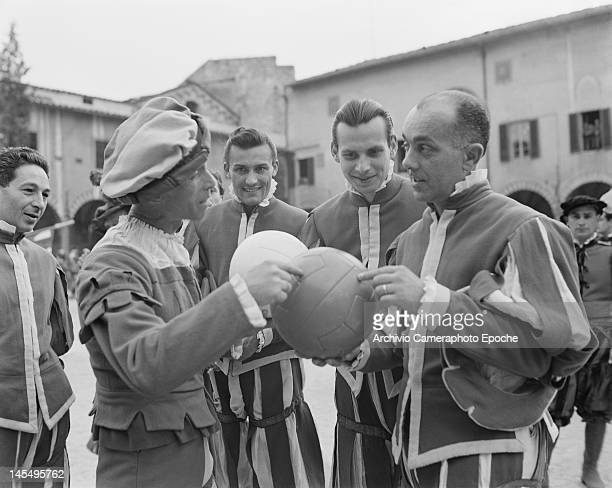 The Giuoco del Calcio Fiorentino an early form of football still played in Florence Italy circa 1955