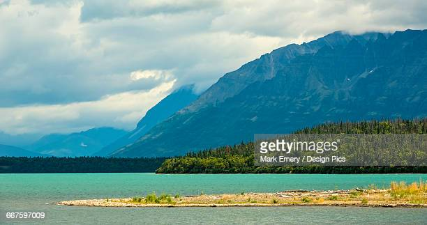 the glacial blue waters of naknek lake - emery stock photos and pictures