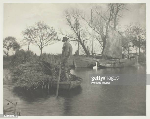 The Gladdon-Cutter's Return, 1886. A work made of platinum print, pl. Xxxiii from the album 'life and landscape on the norfolk broads' ; edition of...