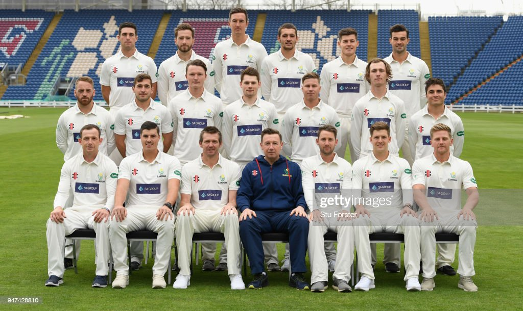 The Glamorgan squad pictured during the 2018 Glamorgan CCC photocall at SSE Swalec Stadium on April 17, 2018 in Cardiff, Wales.