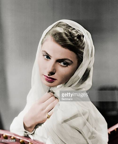 The glamorous Ingrid Bergman ca 1945 Swedish actress was born in 1915