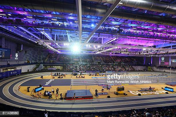 The Glasgow Indoor Grand Prix at the Emirates Arena on February 20 2016 in Glasgow Scotland