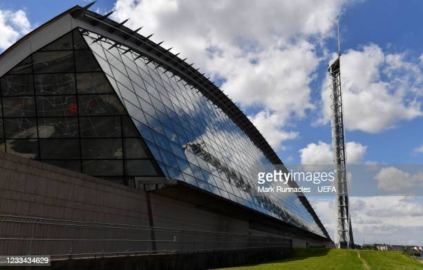 The Glasgow Science Centre on the banks of the River Clyde during the UEFA Euro 2020 Championship on June 13, 2021 in Glasgow, United Kingdom.