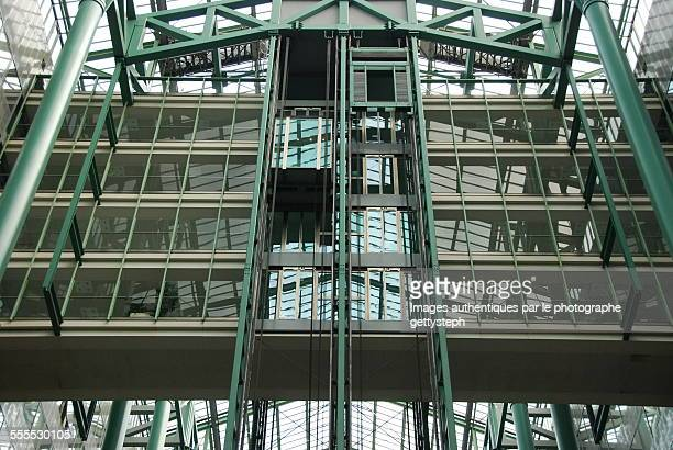 The glass and metallic structure