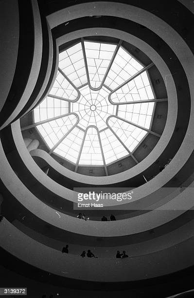 The glass ceiling of the Solomon R Guggenheim Museum in New York, designed by Frank Lloyd Wright.