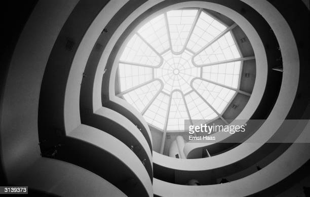The glass ceiling of the Solomon R Guggenheim Museum in New York designed by Frank Lloyd Wright