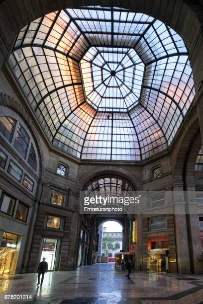 the glass dome of galeria del corso. - emreturanphoto stock pictures, royalty-free photos & images