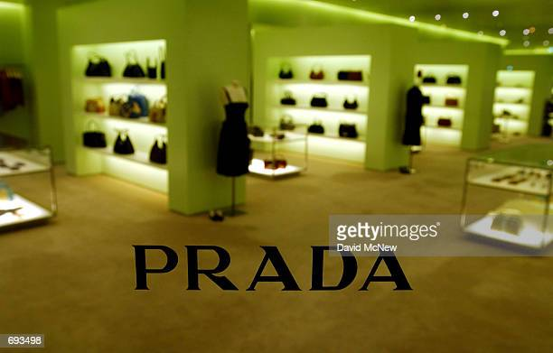 The glass front door bearing the name of the Prada store reveals its greenish decor on Rodeo Drive January 12 in Beverly Hills CA Rodeo Drive claims...