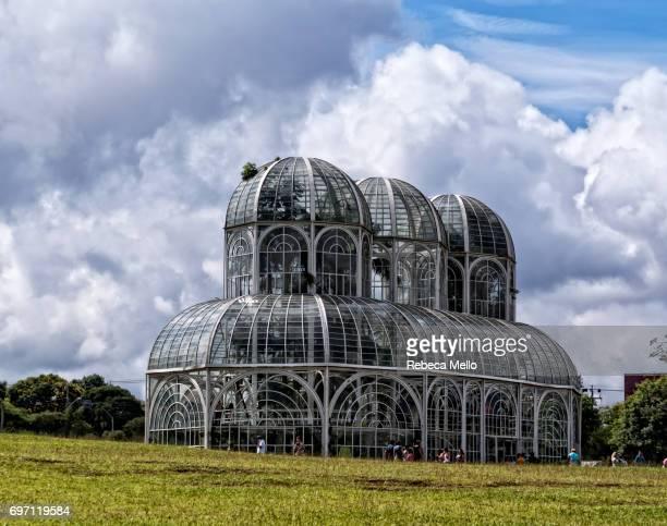 The glass greenhouse  in Botanical Garden, Curitiba