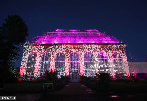 The Glass House show Lightworks is one of a series of light installations that feature in Christmas at the Botanics which is a onemile illuminated...
