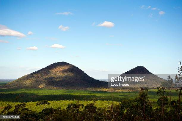 The Glasshouse Mountains in Queensland in Australia