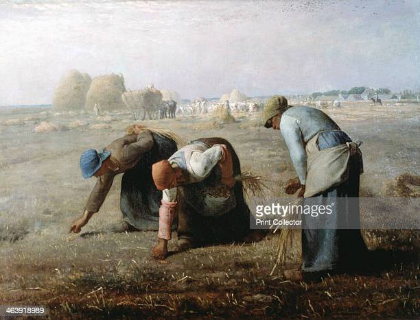 'The Gleaners' 1857 Three women collect ears of grain that have been left after the harvest has been gathered and stored in ricks The gleanings that...