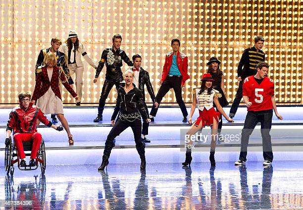 """The glee club performs in """"Michael,"""" a special episode celebrating the music of Michael Jackson, on GLEE airing Tuesday, Jan. 31 on FOX. Pictured..."""