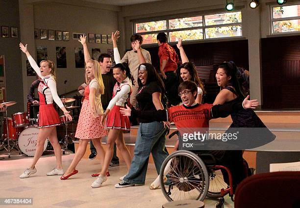 """The Glee club performs in the choir room in the """"Sectionals"""" fall finale episode of GLEE airing Wednesday, Dec. 9 on FOX. Pictured L-R: Heather..."""