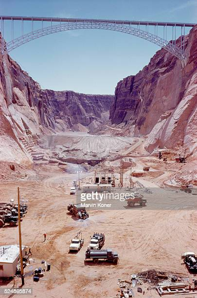 The Glen Canyon Dam construction site in 1960