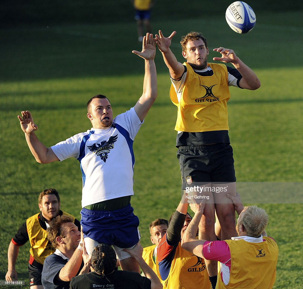 The Glendale Raptors rugby team practiced at Infinity Park Thursday evening,June 2, 2011 in Glendale. The Raptors are hosting the USA National Rugby Finals this weekend. By winning Saturday they would advance to the finals. Karl Gehring/The Denver Post : News Photo
