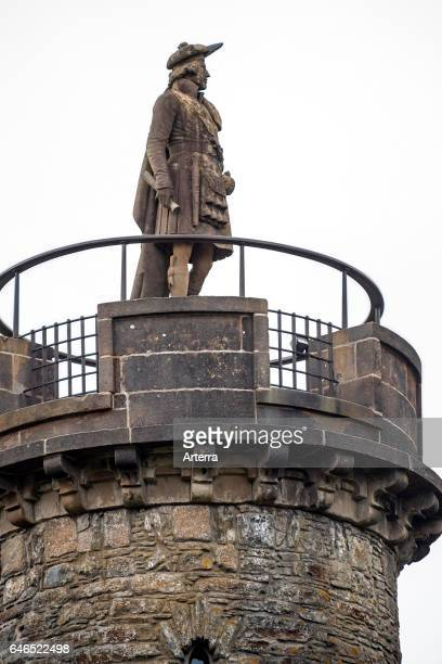 The Glenfinnan Monument on the shores of Loch Shiel erected in 1815 to mark the place where Prince Charles Edward Stuart / Bonnie Prince Charlie...