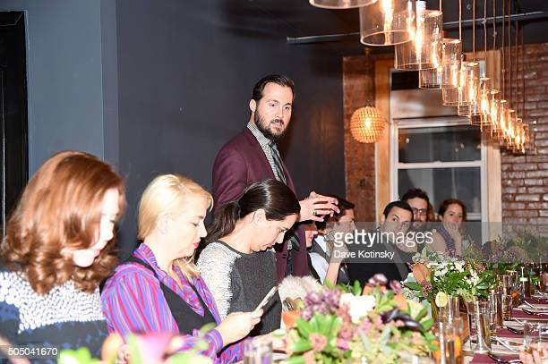 The Glenlivet Master of Scotch Peter Karras at The Glenlivet Burns' Night Supper at New York City's The Kitchen Table on January 14 2016 in New York...