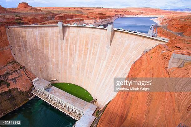 the glenn canyon dam - ダム ストックフォトと画像