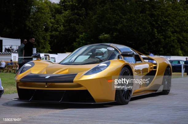 The Glickenhaus SCG 004S seen at Goodwood Festival of Speed 2021 on July 8th in Chichester, England. The annual automotive event is hosted by Lord...