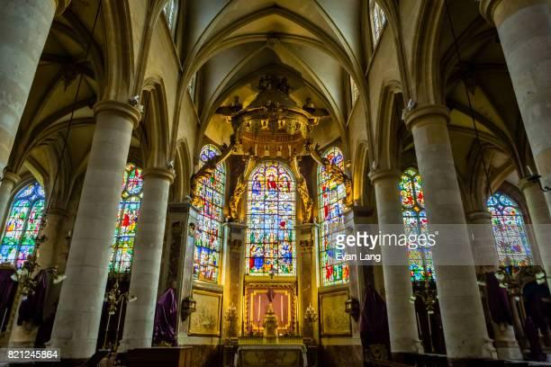 the église saint-patrice - saint patrick stock pictures, royalty-free photos & images