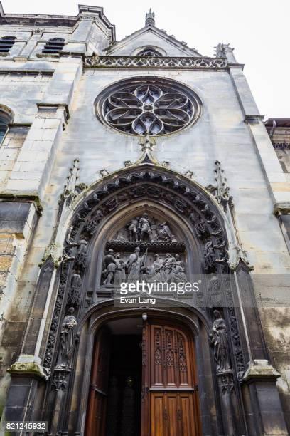 the église saint-patrice - rouen stock pictures, royalty-free photos & images