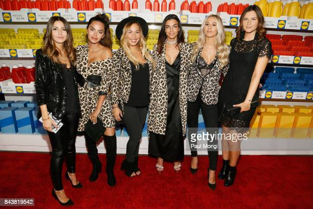 The Global 6 Influencers Alexandra Pereira Diipa Khosla Stephanie Durant Nicole Mazzocato Sendi Skopljak and Maren Wolf attend the Esmara By Heidi...